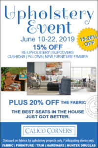 Calico Corners Fl Upholstery Event Sale